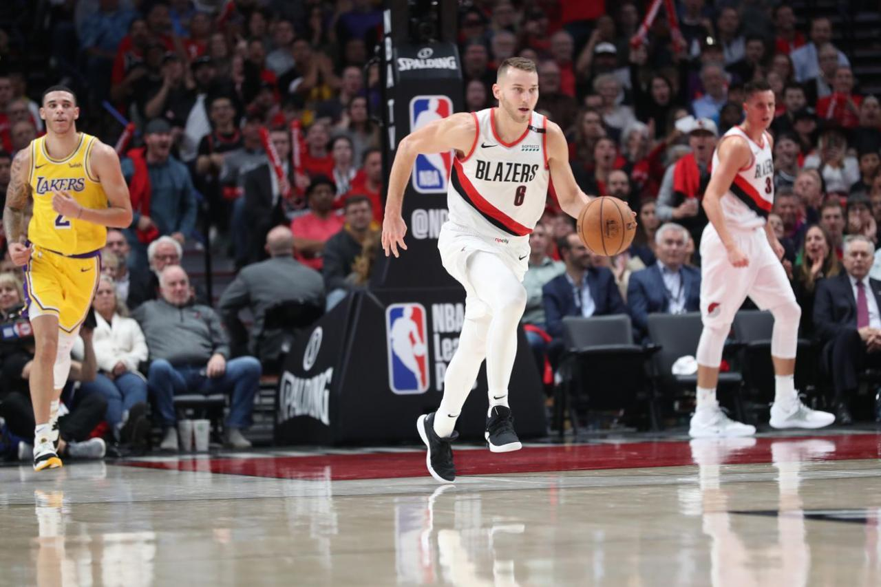8 things to know about Nik Stauskas debut with the Blazers All #sports games  and sports #HD #streaming #chan… | Nba jersey, Basketball court size, Cheap  nba jerseys